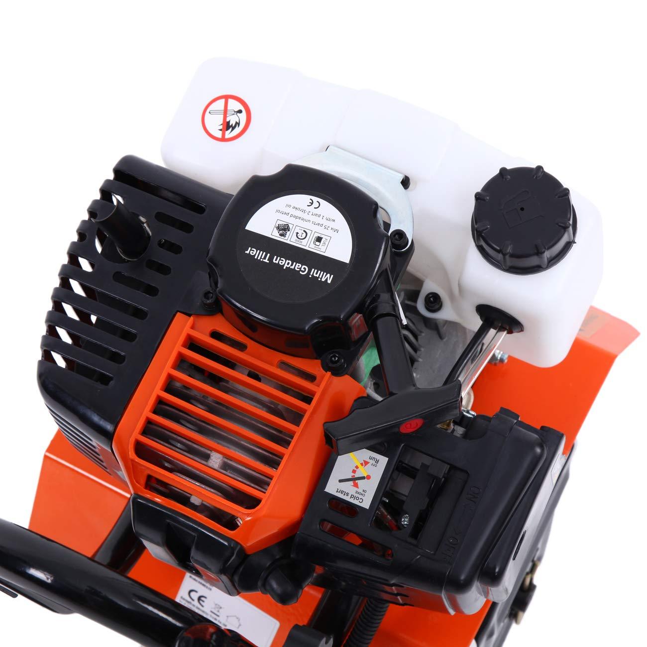 Samger Samger Mini caña Motor Cultivador 52cc 2 Tiempos Gas ...