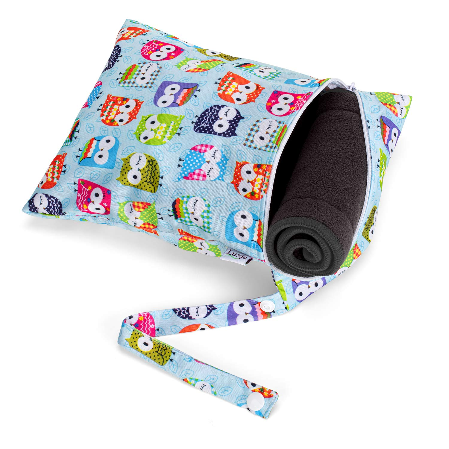 4 Pcs Cloth Diaper Liners + 1 Storage Bag Luxja Cloth Diaper Inserts 5 Layers of Bamboo Charcoal Inserts