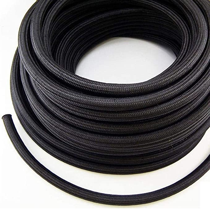 Fluids 4AN 10Ft Stainless Steel Braided Nylon Marine Fuel Hose For Oil Clutch Brake Gas Cooler Transmission Line 1//4 Fuel Line Transmission Coolant