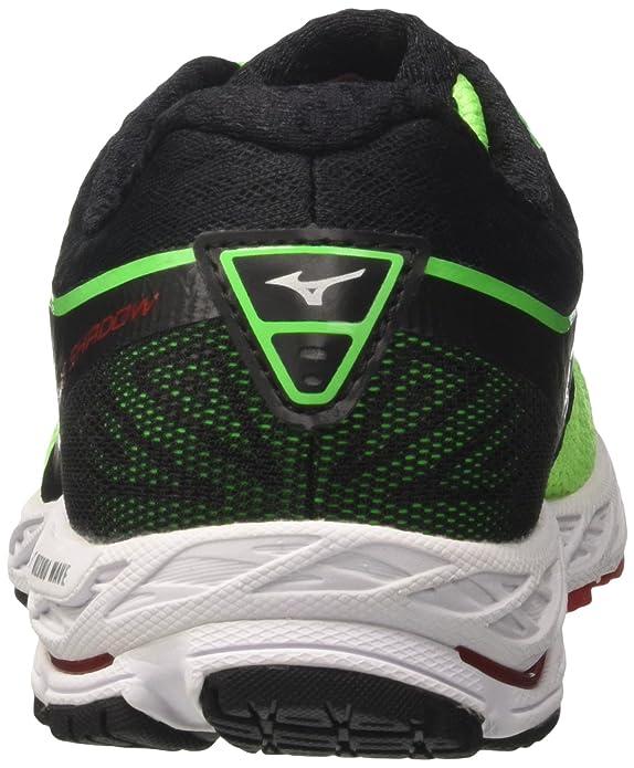Wave Shadow, Chaussures de Running Homme, Vert (Greenslimewhiteformulaone), 39 EUMizuno