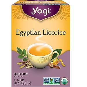 Organic Egyptian Licorice 16 tea bags by Yogi Tea