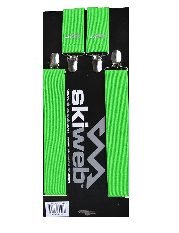 4 Klipp Hosenträger - Neon Grün