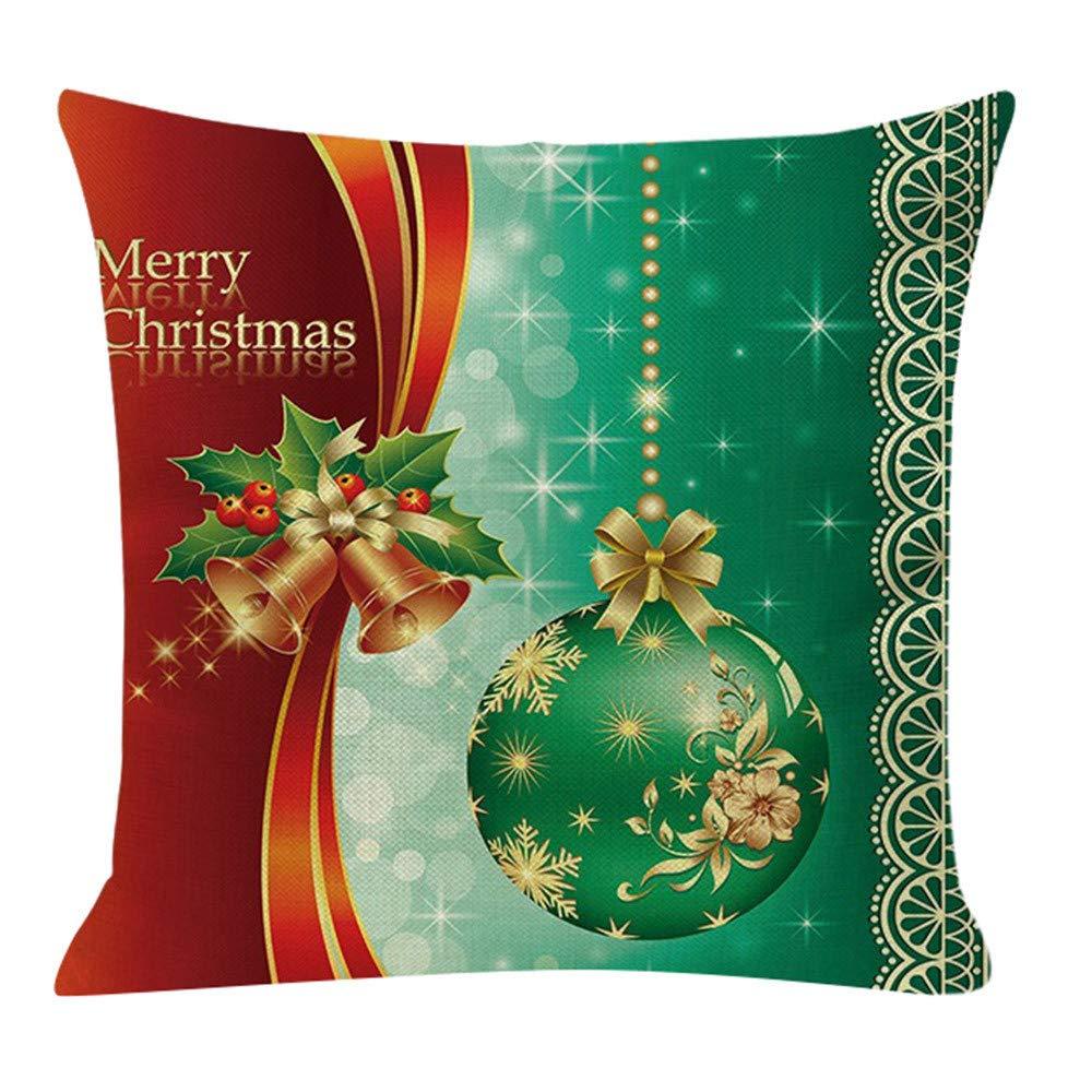 Reooly Christmas Tree Cómodo sofá Cojín Festivo Funda de ...