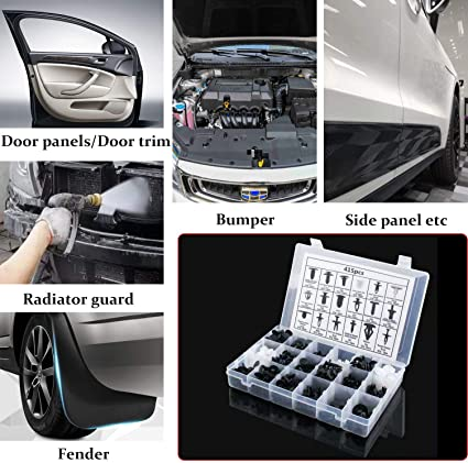Dingln 50pcs Front and Rear Guard Car Body//Bumper Clip Buckle Rivet Retainer Trim Moulding for H-O-N-D-A