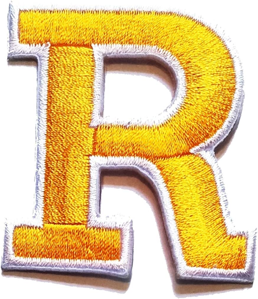 Sew On Embroidery Applique Patch Sew Iron Badge Fur Letter R