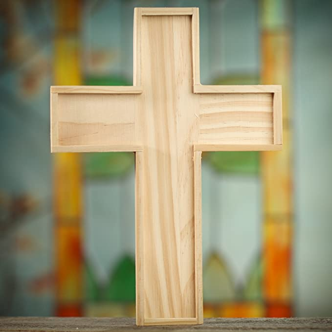 Amazon.com: Unfinished Wooden Crosses for Painting and Crafting | 6 ...