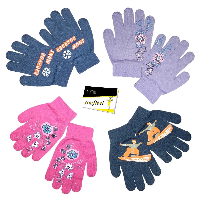 Kinder Fingerhandschuhe Strickhandschuhe Magic Gloves (PT-84126) - inkl. EveryHead-Hutfibel