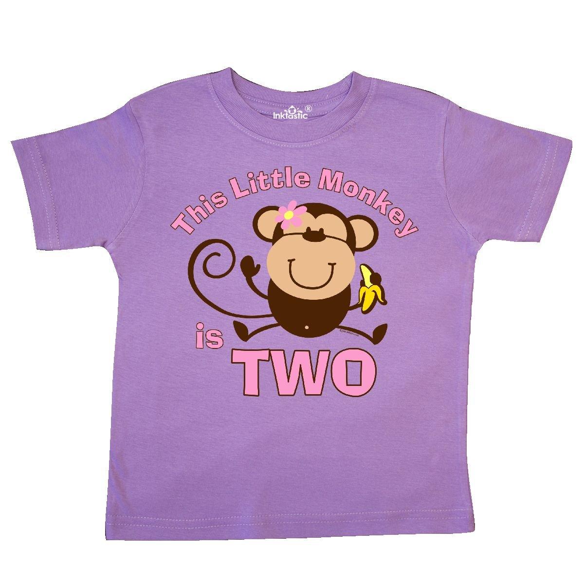 inktastic Little Monkey Girl 2nd Birthday Toddler T-Shirt