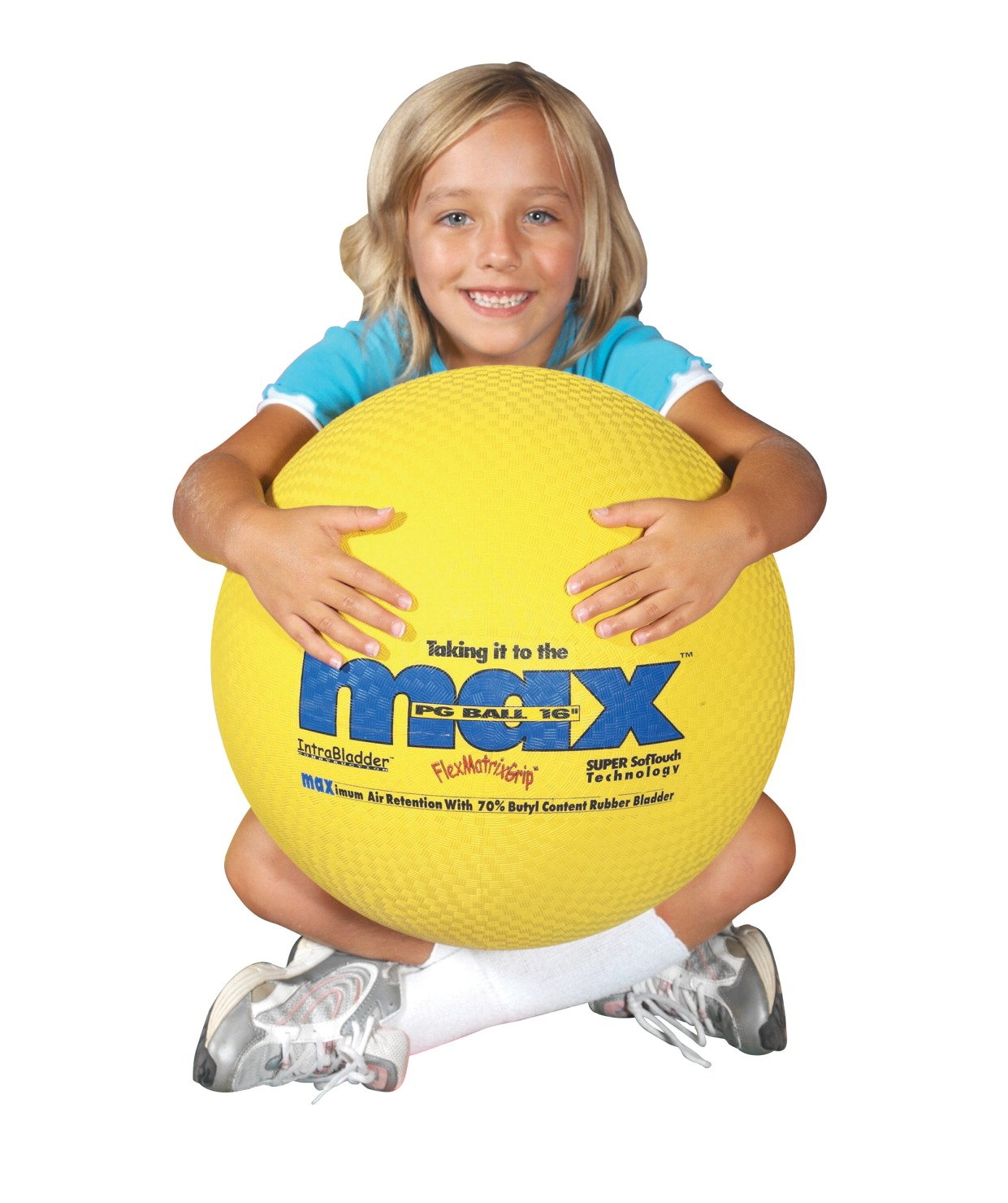 SportimeMax Utility Ball, Yellow, 16 Inches
