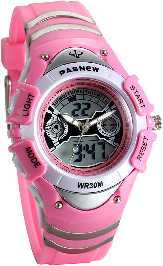 Lancardo Reloj Deportivo Impermeable de 3ATM Multifunción de Dual Tiempo Alarma de Hora Puntual Pulsera Digital de Moda con Luces para Deportes