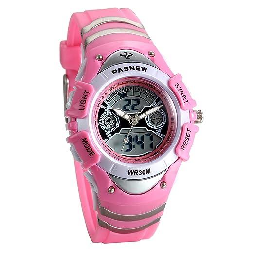 Lancardo Reloj Deportivo Impermeable de 3ATM Multifunción de Dual Tiempo Alarma de Hora Puntual Pulsera Digital de Moda con Luces para Deportes ...