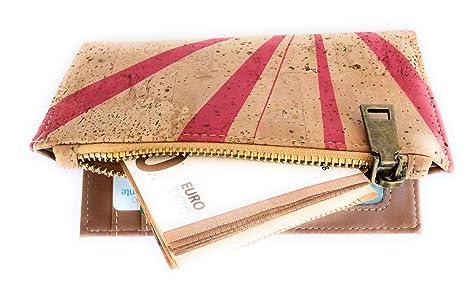 Cartera de Mujer con Monedero, Billetera de Mujer con Cremallera, Original de Corcho ecológico Portugués de diseño.