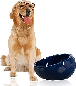 Jemirry Ceramic Dog Bowls, Animal Pet Food Bowl Dog Water Dish for Wet Food Dry Food Water Bowl