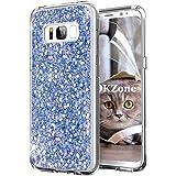 OKZone Cover Samsung Galaxy S8 Custodia Lucciante con Brillantini Glitters Ultra Sottile Designer Case Cover per Samsung Galaxy S8 (Blu)
