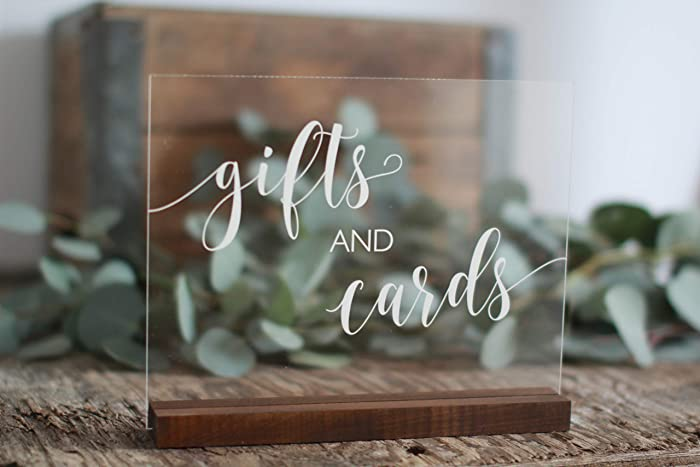 Gifts and Cards Acrylic Sign | Gifts and Cards Sign | Lucite Gifts and  Cards Sign | Wedding Signs | Acrylic Wedding Signs | Cards Sign