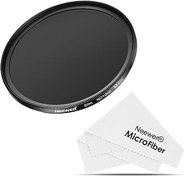 Neewer Delgado 62MM Neutral Densidad ND 1000 Filtro 10 Stop Optical Glass y Marco Negro Matte para lente con rosca 62mm, Ideal para Lente de Angulo AmplioWide Angle Lenses