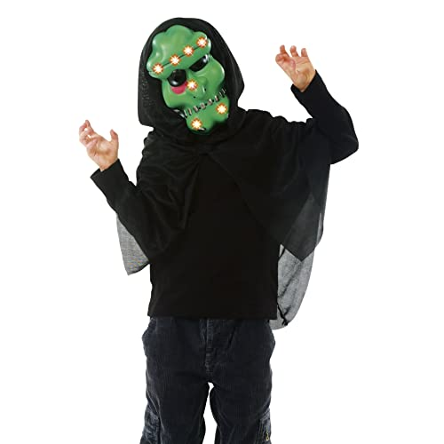 Cesar B103-001 - Costume - Masque Monstre Vert avec Capuche et Lumière