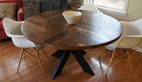 Chevron Dining Room Table with X Base