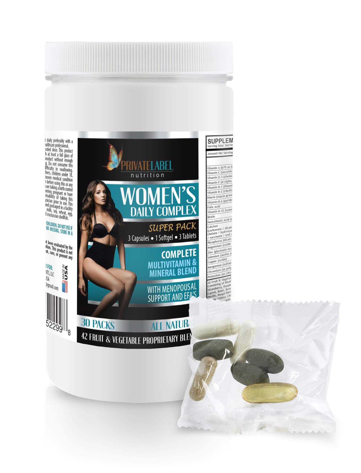Menopause Supplements Weight Control - Women's Daily Complex - Super Pack - Green Tea Weight Loss Supplements - 1 Can 30 Packs (210 Pills)