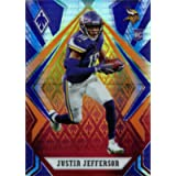 2020 Panini Phoenix Fire Burst Parallel Football #111 Justin Jefferson Rookie Card