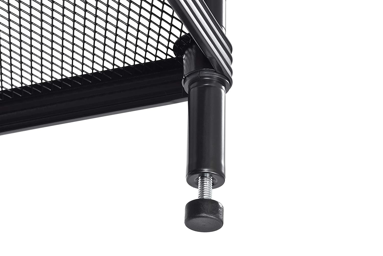Wire Mesh Garment Rack with Ledge Muscle Rack FMGRL361871-3B