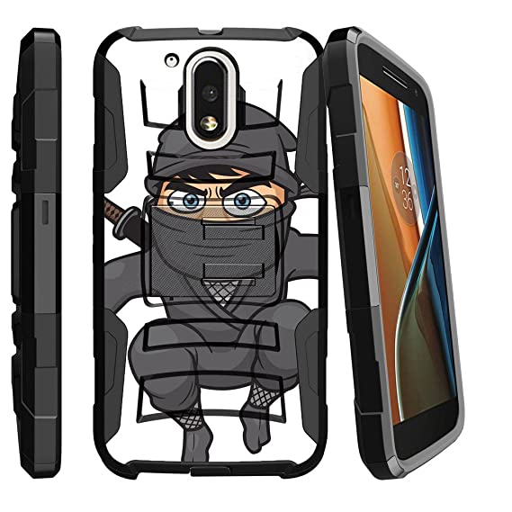 MINITURTLE Case Compatible w/Motorola G4 Case, Moto G4 Plus Holster [Clip Armor] Dual Layer Advanced Rugged Case Shockproof Silicone Hard Stand Flying ...
