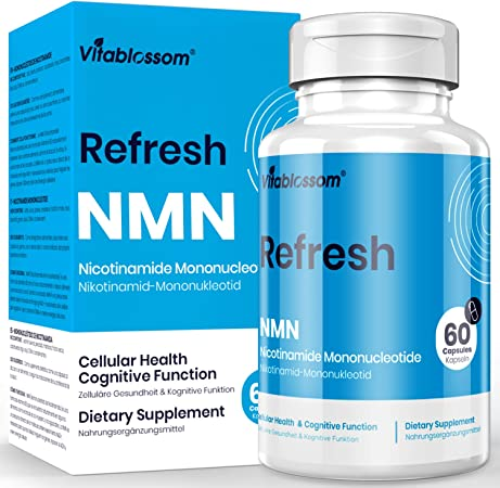 Vitablossom NMN Supplement NMN 500mg 60 Capsules NMN Nicotinamide Mononucleotide NAD Supplements, to Boost NAD Levels for Anti Aging, Energy Supplement, Cellular Repair & Healthy (1 Pack 60 Count)