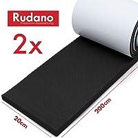 Protection murale Rudano - mousse auto-adhésive (2m | Extra épais | 7mm) comme protection murale de garage - protection de porte protège votre voiture contre les rayures, les bosses et les éraflures