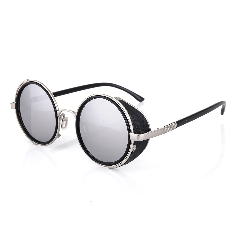 Cyber ronde goggles de soleil des Lunettes de Steampunk Antique Copper (Goggle Nr3) nwyR31Ea