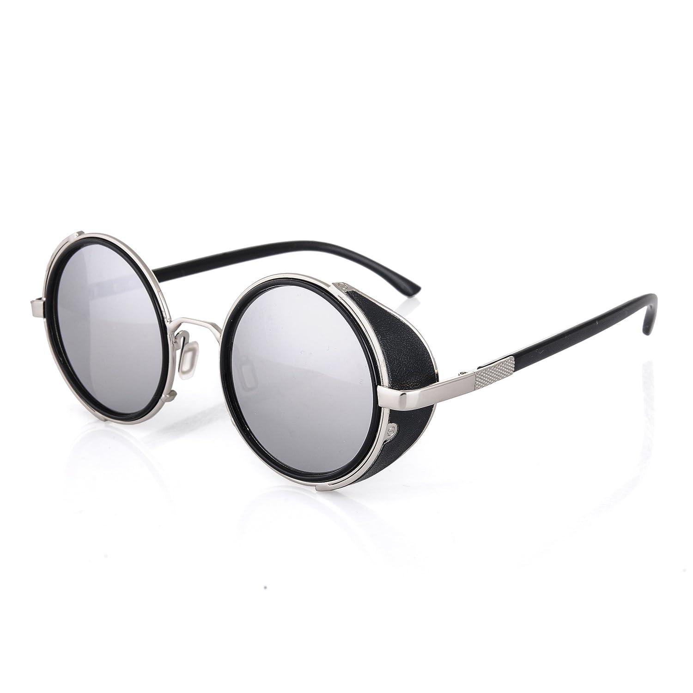 Cyber ronde goggles de soleil des Lunettes de Steampunk Antique Copper (Goggle Nr4) gv4STtjbf