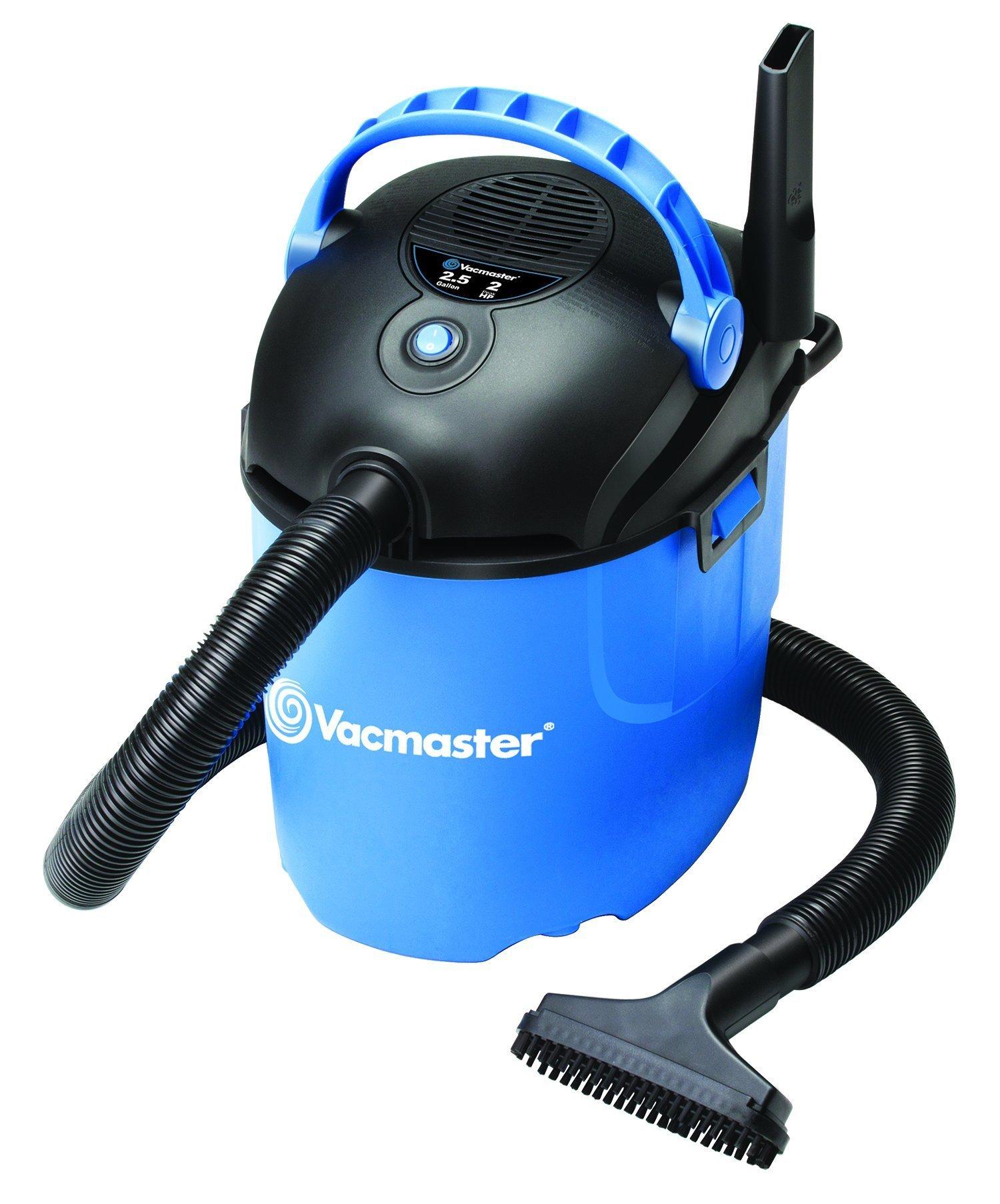 Vacmaster 2.5 Gallon, 2 Peak HP, Portable Wet/Dry Vacuum, VP205 (Renewed)