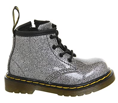 113b97a75251 Dr. Martens Kid's Collection Baby Girl's 1460 Patent Glitter Infant  Brooklee Boot (Toddler)