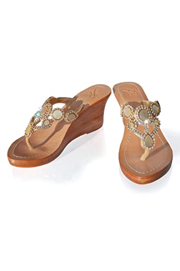 7826ed9cc PASHA Genuine Leather Jeweled Shoes