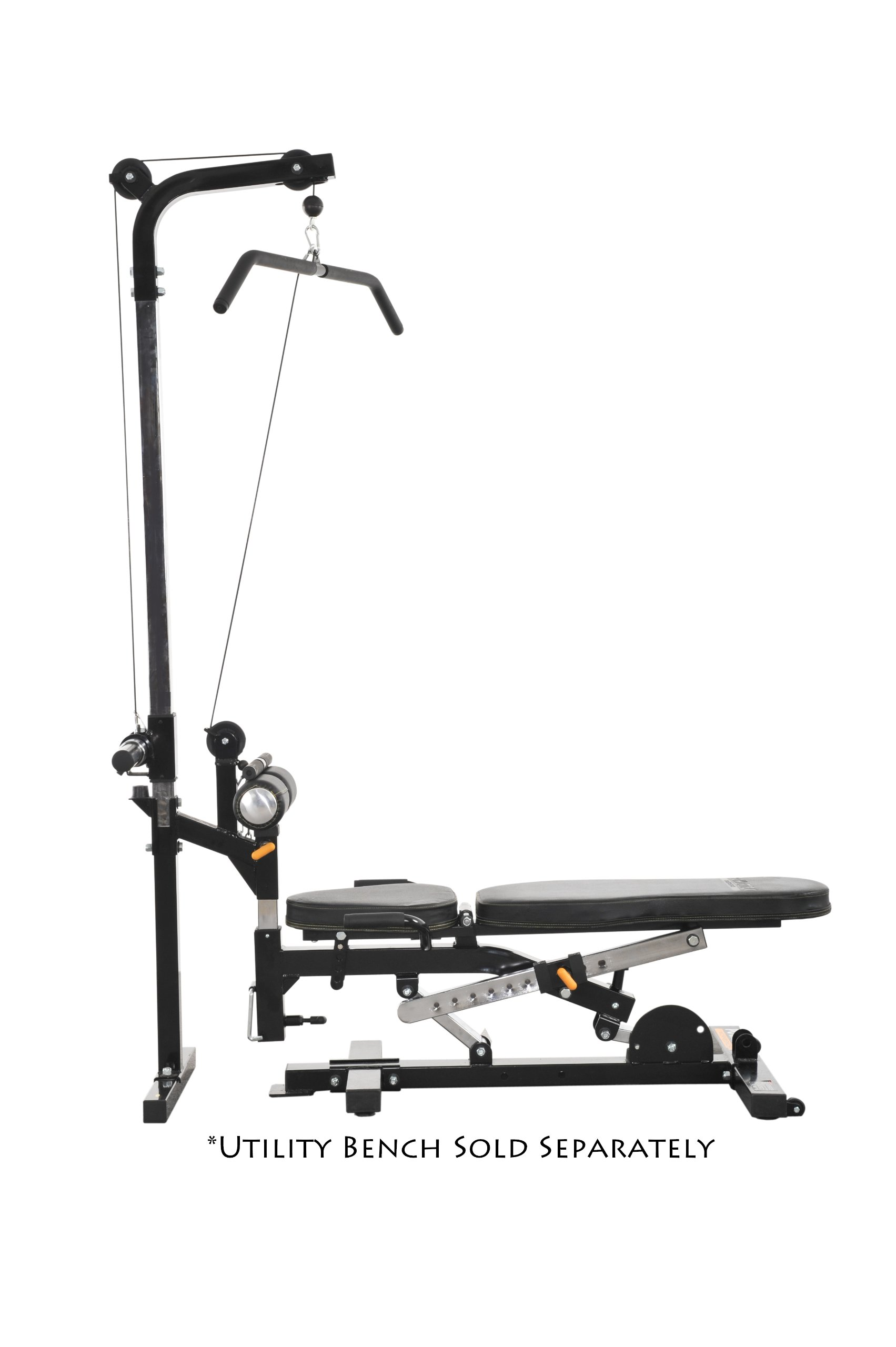 Powertec Fitness Workbench Lat Tower Accessory, Black