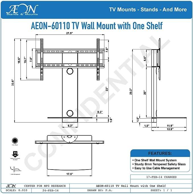 Giratorio Soporte de pared para TV con estante (estantes): Amazon.es: Electrónica