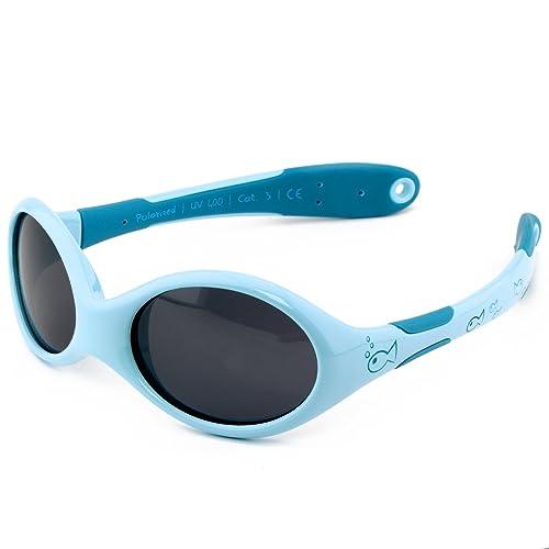 Active Sol gafas de sol para BEBÉ | NIÑO | 100% protección UV 400 | polarizadas | irrompibles, de goma flexible | 0-24 meses | 18 gramos
