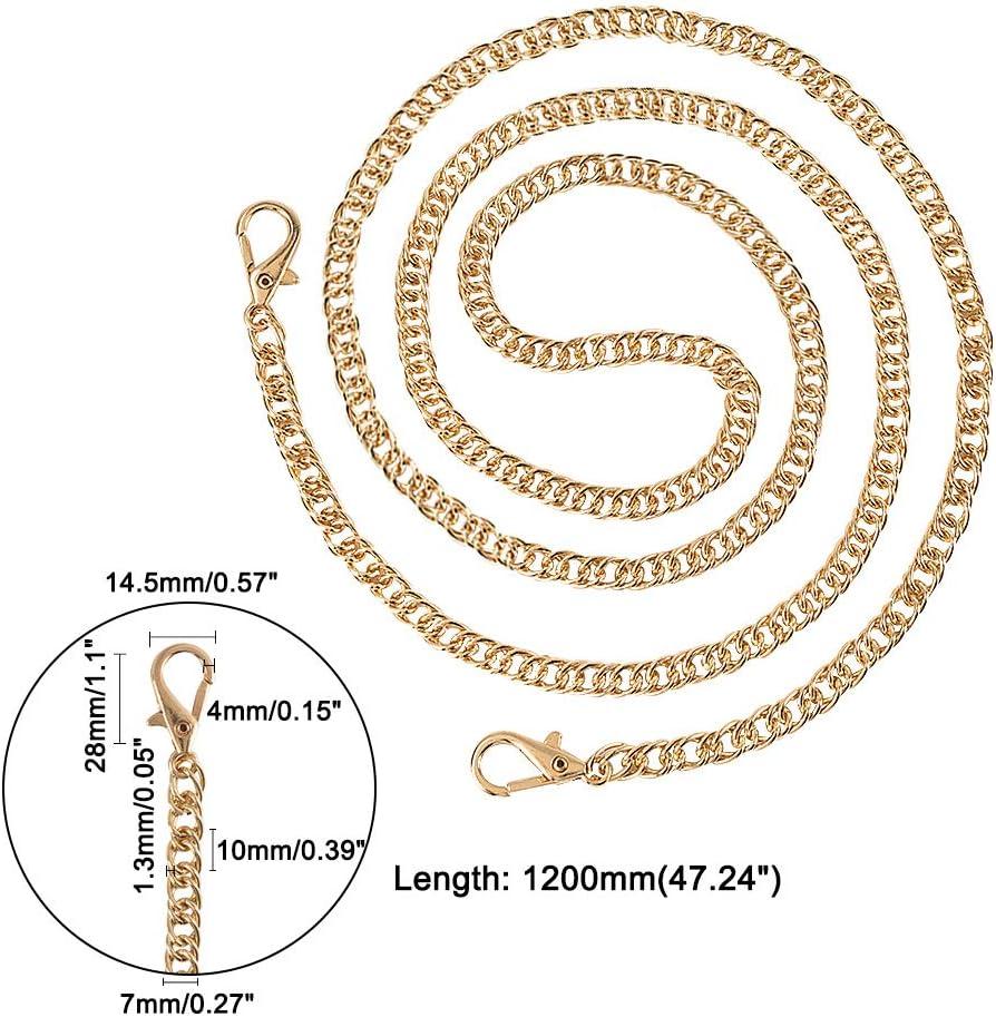 Oro claro y platino cadenas de eslabones de hierro Pandahall Elite con cierre de pinza de langosta giratorio 4 unidades. 31.6cm 1 caja de cadenas de correa 120 x 1 cm dorado