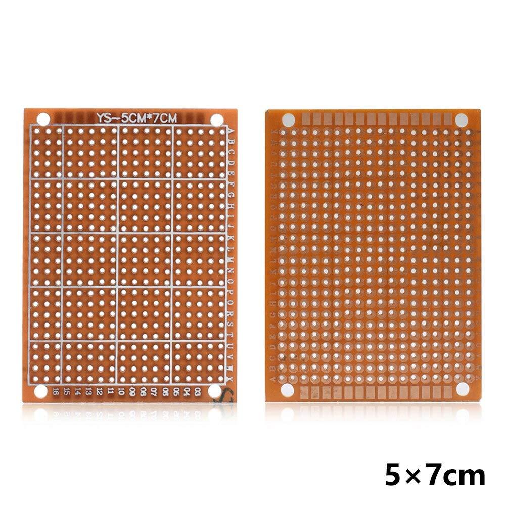 5Pcs Prototype Printed PCB Circuit Board Strip Breadboard For DIY Solder la
