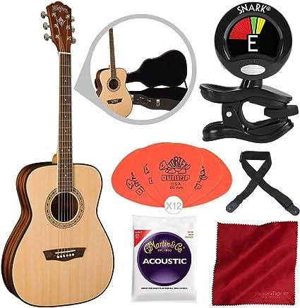Washburn Apprentice 5 Series AF5K - Guitarra acústica con cuerdas ...