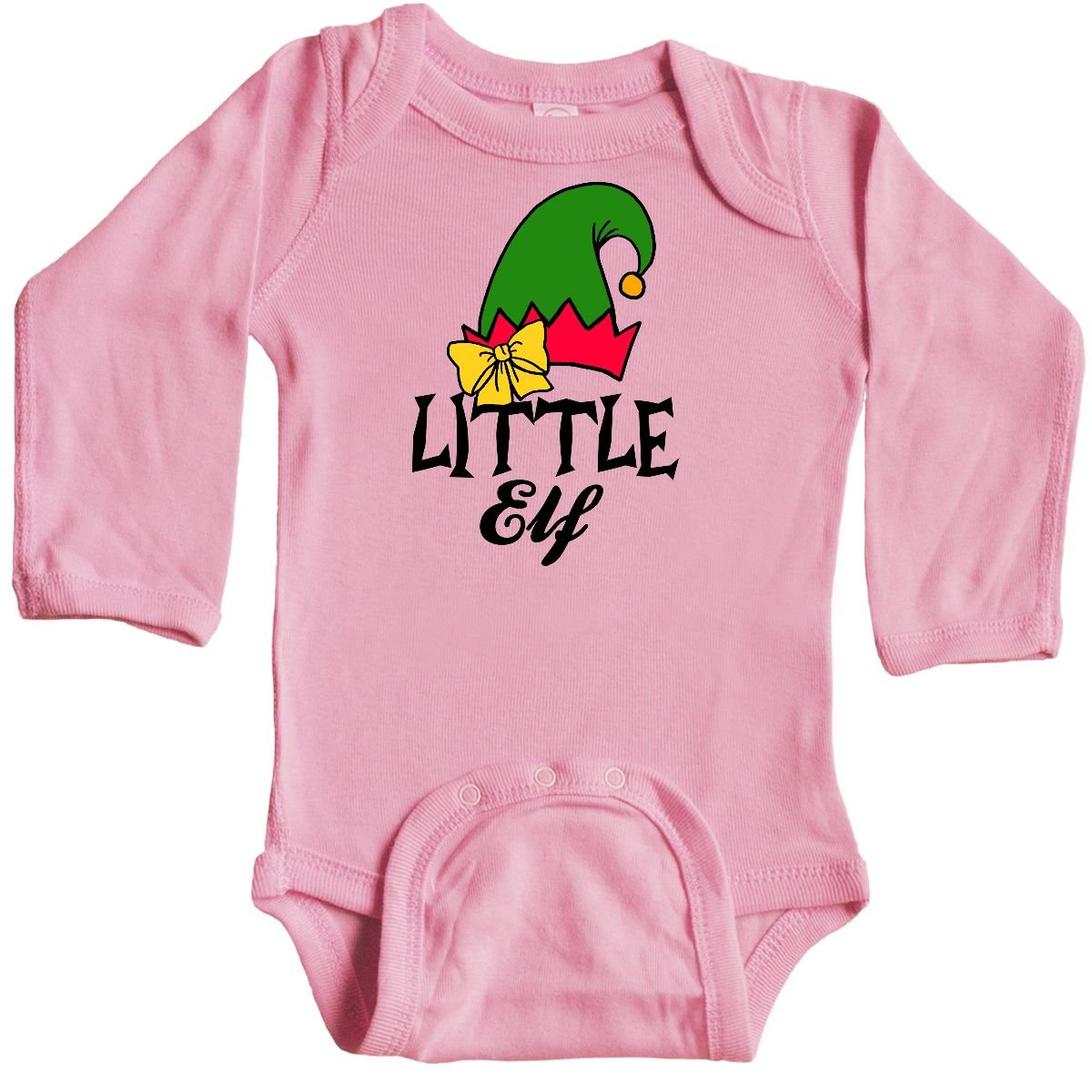 inktastic Little Elf with Elf Hat Long Sleeve Creeper