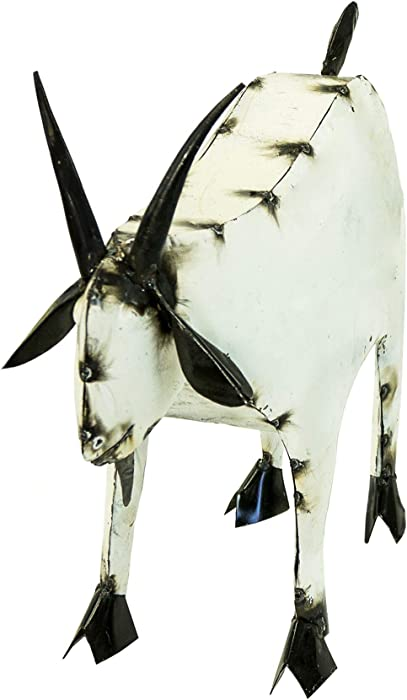 Rustic Arrow Goat-Medium Garden Statue, Multi