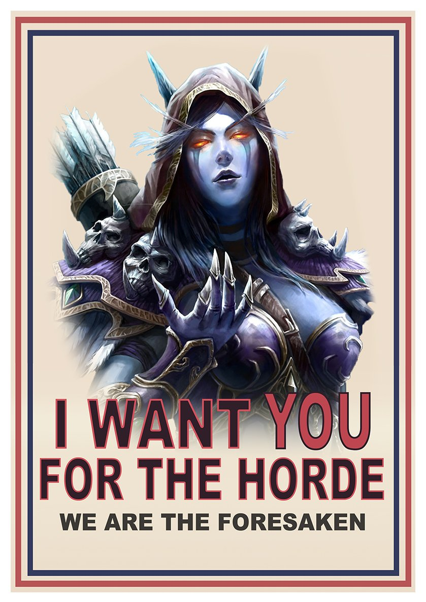 Poster Sylvanas 'I Want You' World of Warcraft - Formato A3 (42x30 cm) Easy Exp & Imp Limited