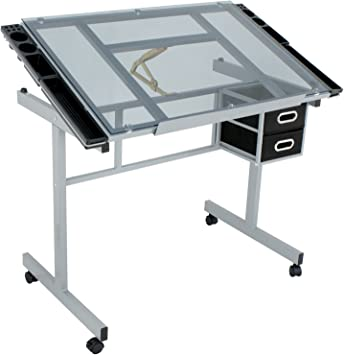 bbbuy Craft estación Rolling mesa de dibujo, dibujo de cristal ...