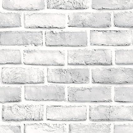 3D Wall Brick Stone Rustic Effect Self-adhesive Sticker Wallpaper Home Decor WH Home Improvement