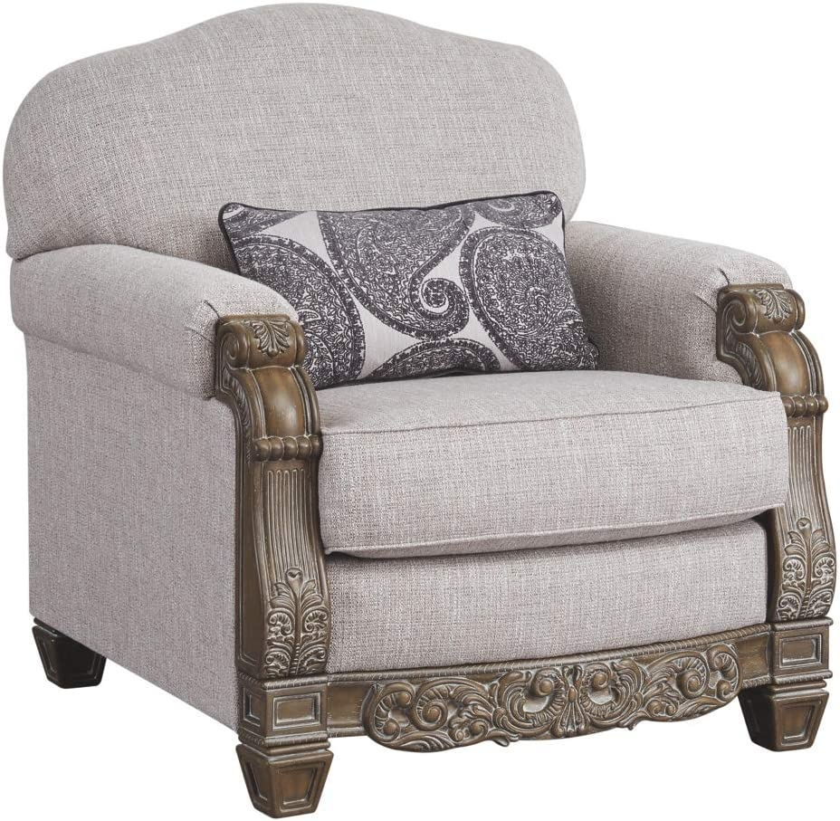 Signature Design by Ashley - Sylewood Elegant Classic Chair, Slate Gray