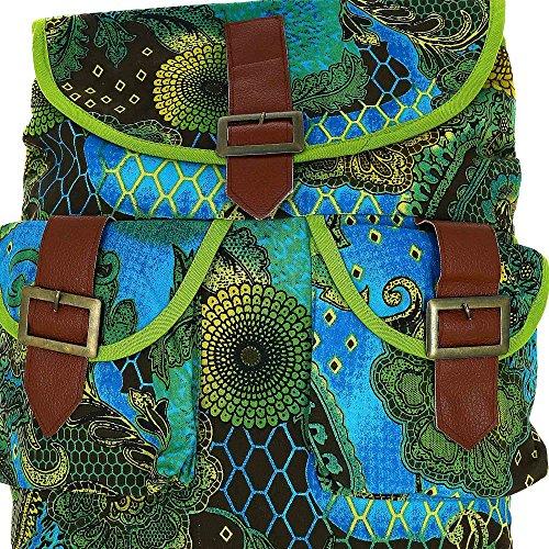 Zaino elegante borsa in cotone 100%, stampato, regolabile