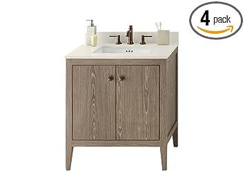 RONBOW Sophie 31 Inch Bathroom Vanity Set In Aged Oak, Single Bathroom  Vanity With Top
