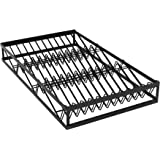 Expandable Spice Drawer Organizer Insert, Kitchen Spice Organizer Drawer, 3-Tier Spice Rack Organizer with Protection Railing