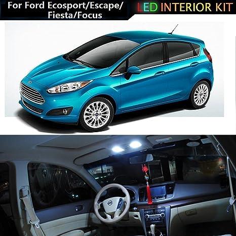 muchkey® LED luz interior para Ford EcoSport 2013escape fiesta (techo) Focus coche Repuesto