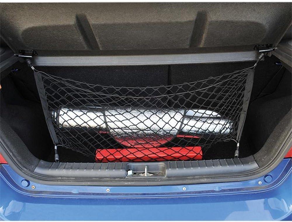 Proplus 540222 Auto Pkw Kofferraumnetz Gepäcknetz Trennnetz 65x75cm Mit 4 Haken Und Tasche Auto